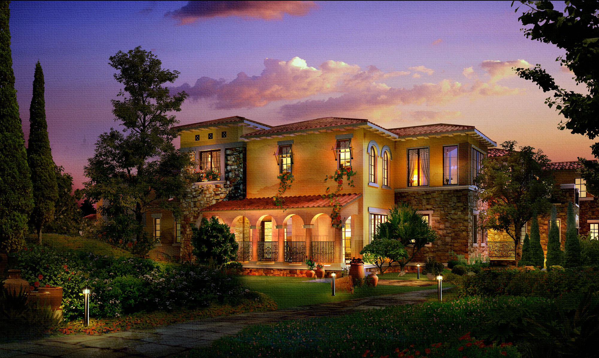 Luxury Mansion Day Night 668 3D Models 3D Model Max