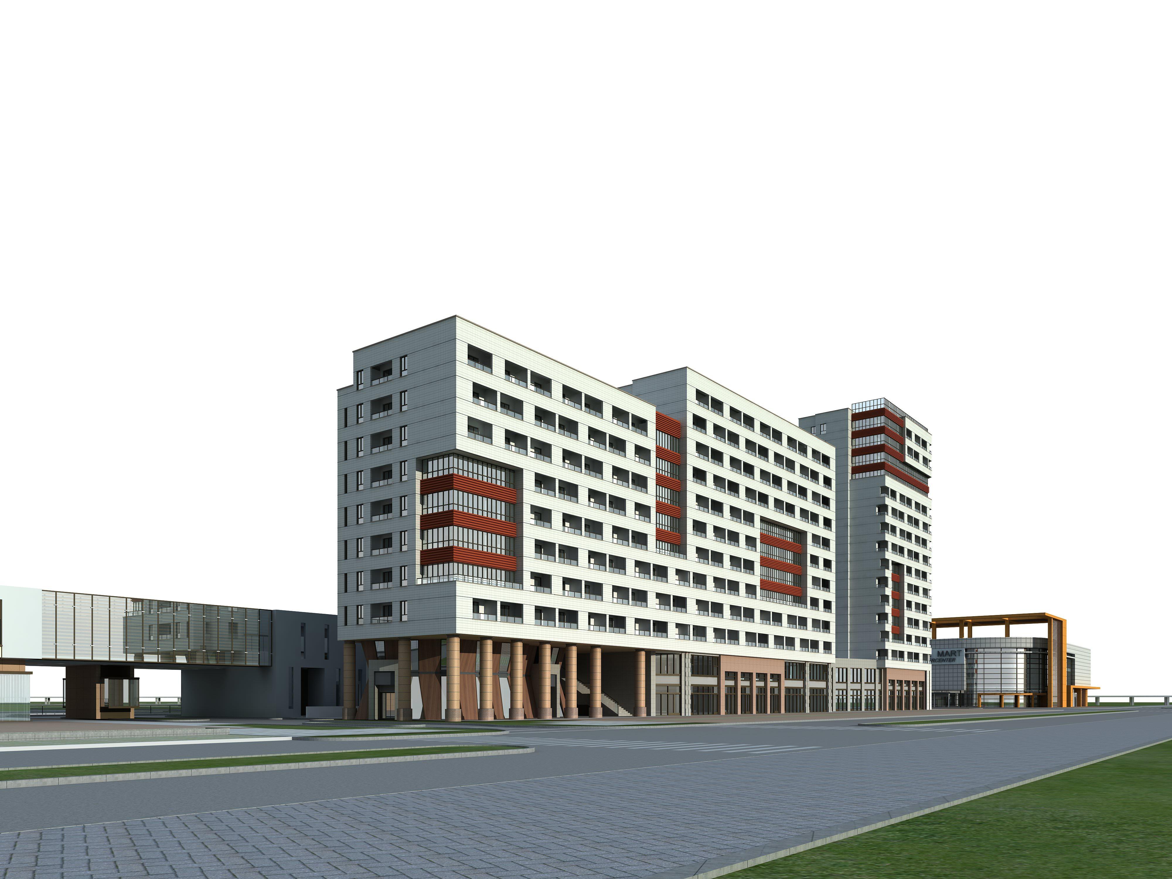 3d building 473 3d model max for 3d max building