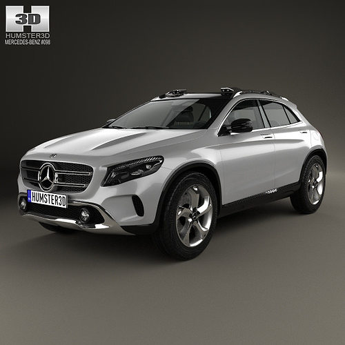 3d model mercedes benz gla class concept 2013 cgtrader for Mercedes benz suv models list