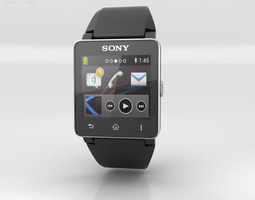 3d asset sony smartwatch 2 low-poly