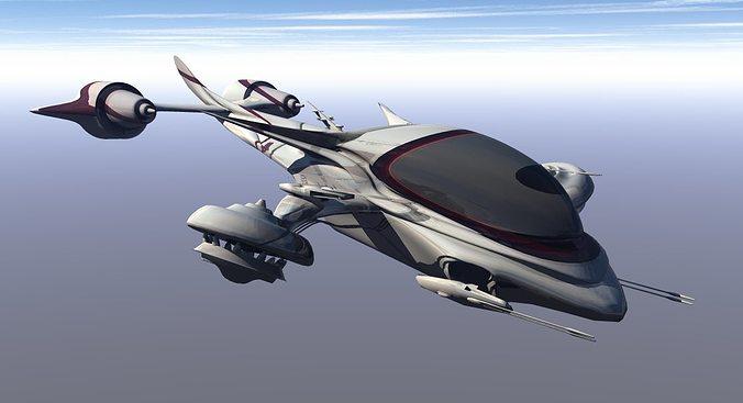 drone attacker 3d model obj mtl 1