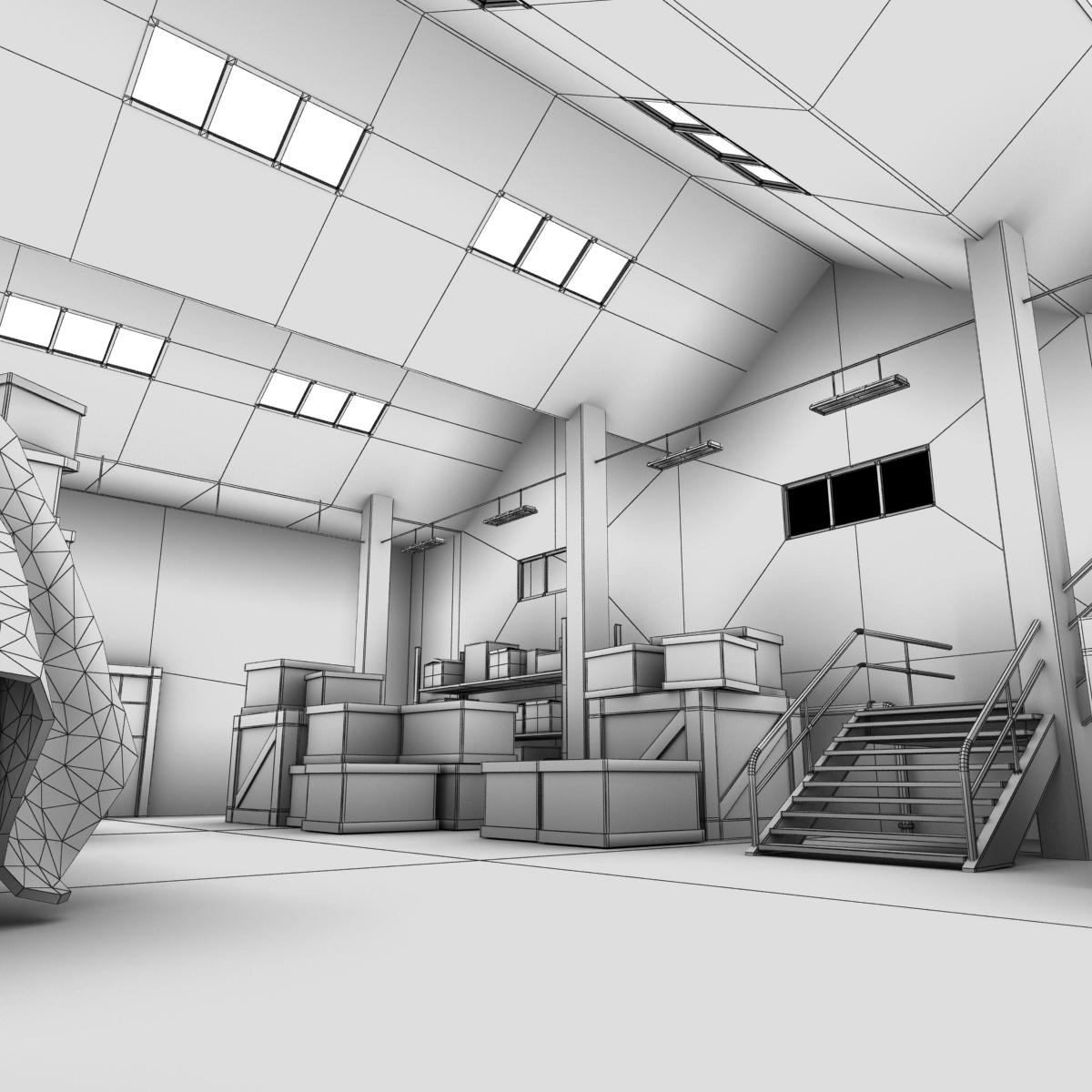 Warehouse Interior 3d Model Max Obj Fbx Lwo Lw Lws