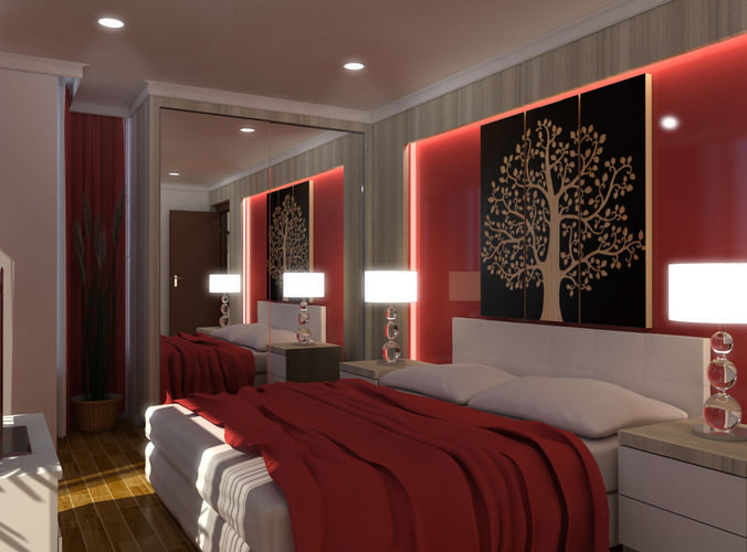 studio type apartment3D model