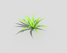 3D asset low-poly branch Low poly Plant