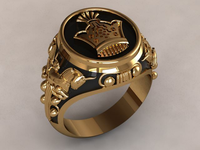 King Ancient Ring 3d Model Rigged 3dm Cgtrader Com