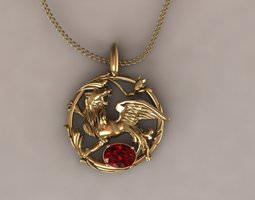 Grid_ruby_lion_pendant_3d_model_3ds_3dm_stl_5a1c40f8-7396-49b5-9296-48608e531435