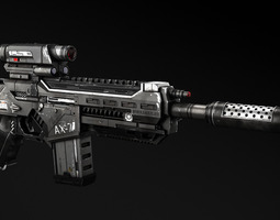 3D AX-7 Assault Rifle
