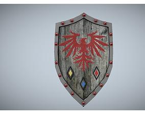 medieval wooden shield 3D model