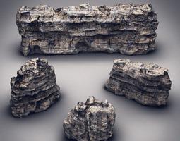 Rocks & Stones set 1 3D Model