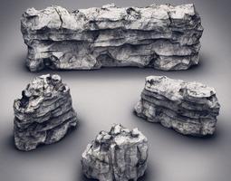 Rocks & Stones set 5 3D Model