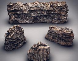 Rocks & Stones set 7 3D Model