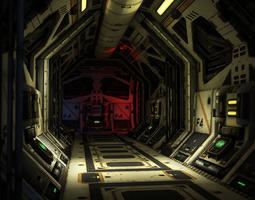 Scf-Fi Hallway 3D