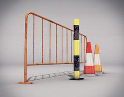 Traffic Elements 3D Model