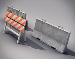 Traffic Barriers 3D Model