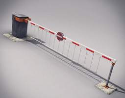 Automatic Barrier 3D Model