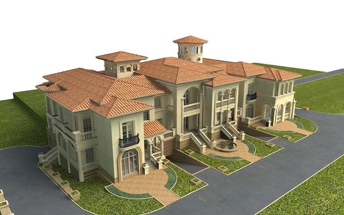 Villa collection 50 items vol1 3d model max for Villas 3d model
