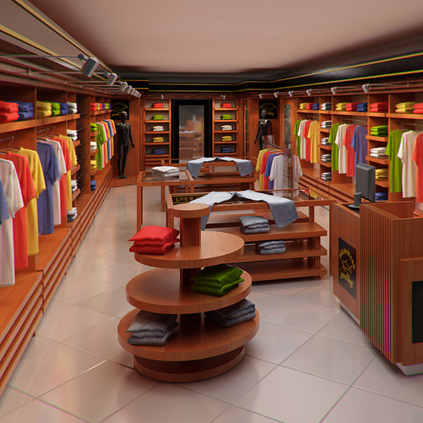 Clothing Store interior for Men and Women (Render Ready) Description