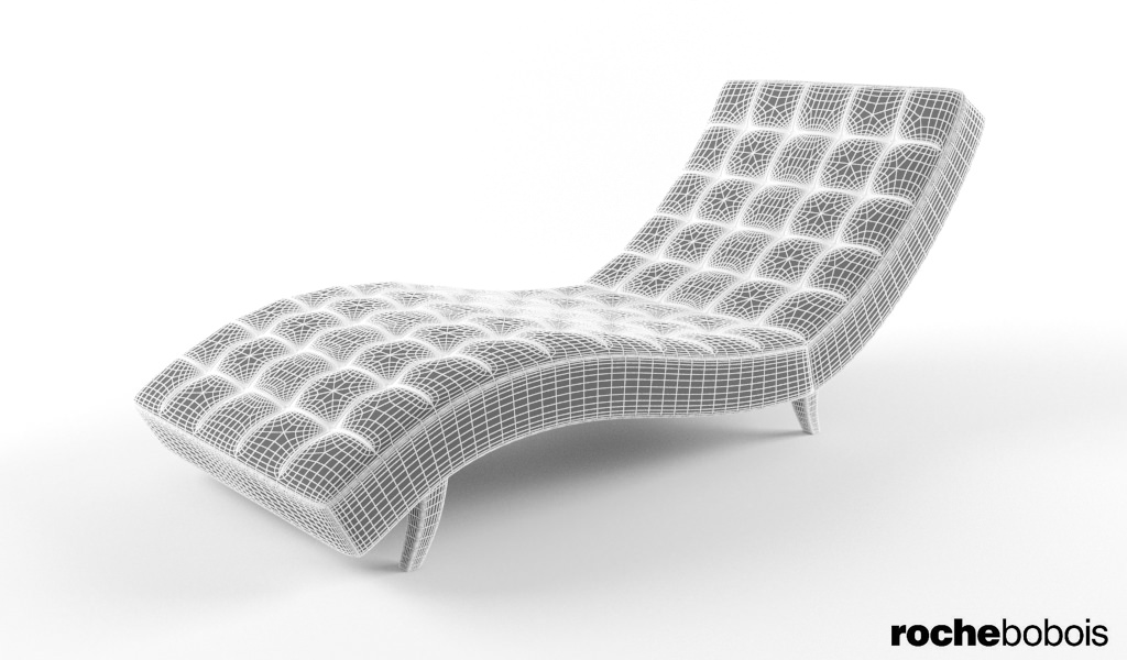 Roche bobois dolce chaise lounge 3d model max for Chaise roche bobois cuir