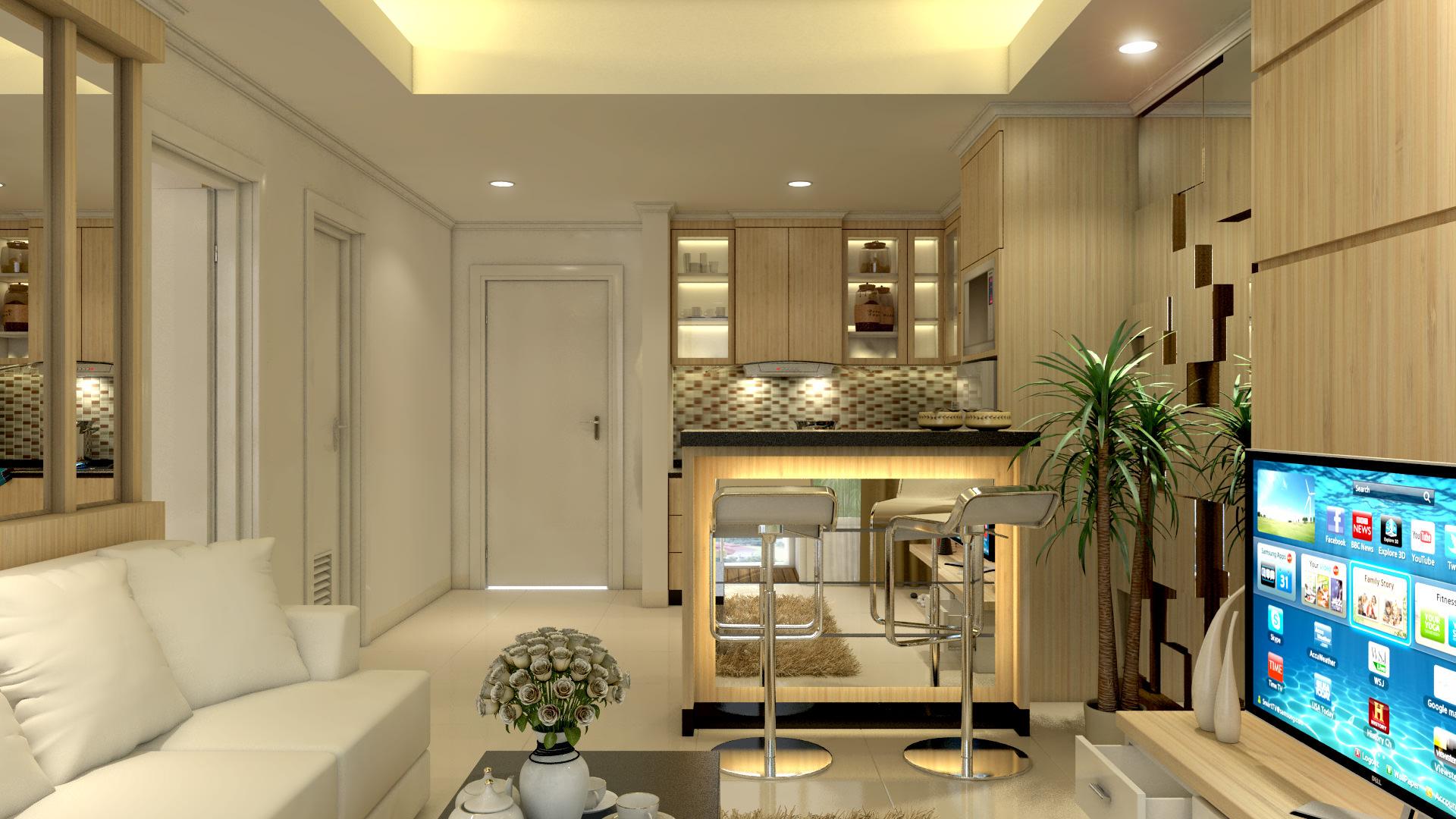 Studio type apartment 3d model max for Com apartment model