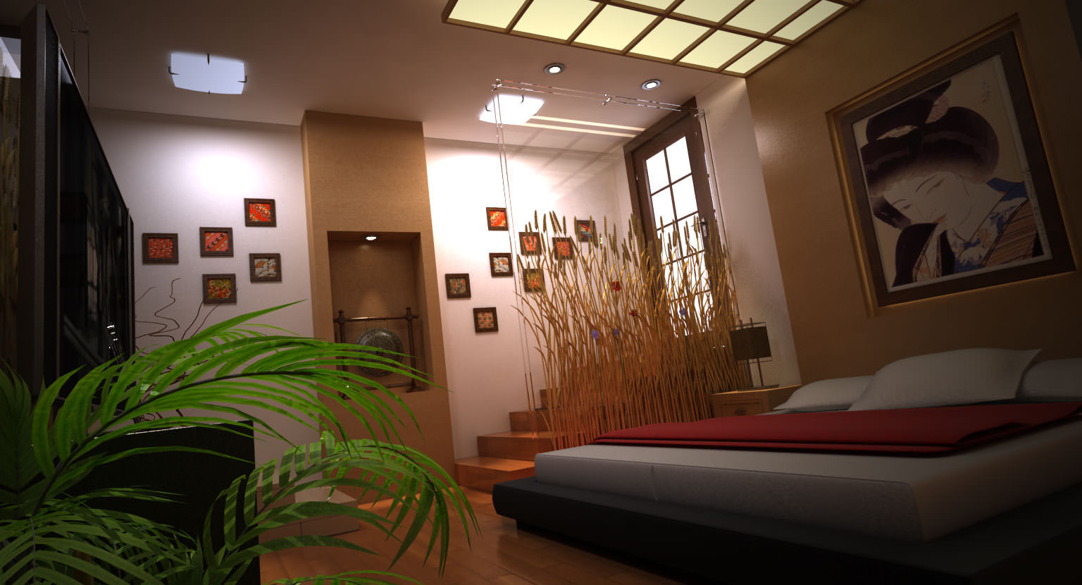 modern japanese bedroom 3d model max cgtrader com 12434 | modern japanese bedroom 3d model max f8fb1df1 2e18 4ea4 a8e3 c893478411af