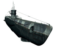 Type VIIc U-Boat	 3D Model
