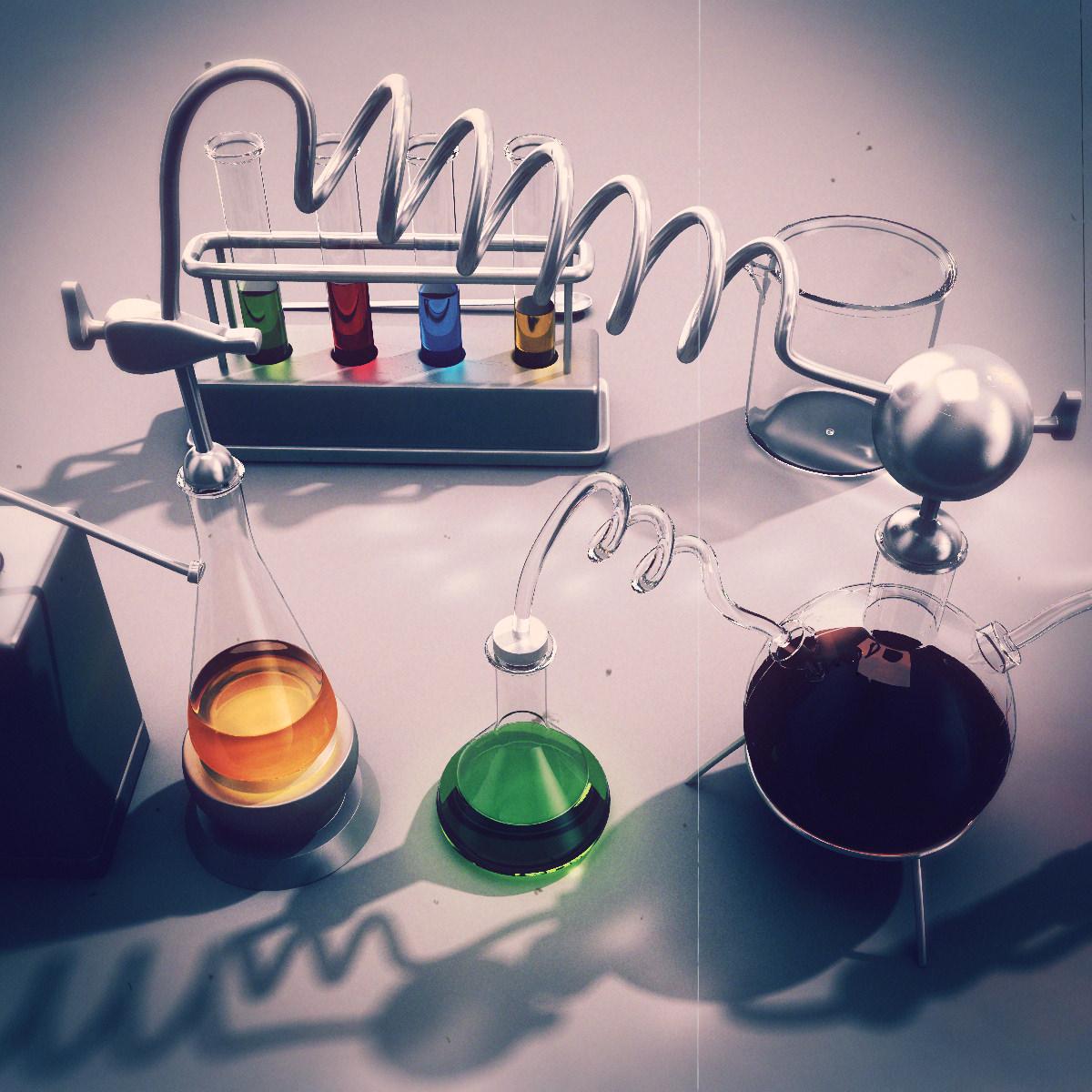 Chemistry Equipment 3d Model Max Obj Fbx Lwo Lw Lws