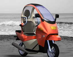 C1 Personal Scooter (Poser/ Vue) 3D Model