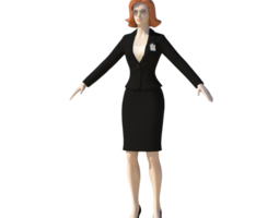 3d young woman with morphs