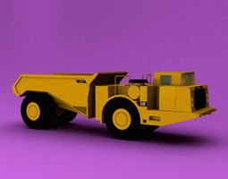 3D model Underground Articulated Truck