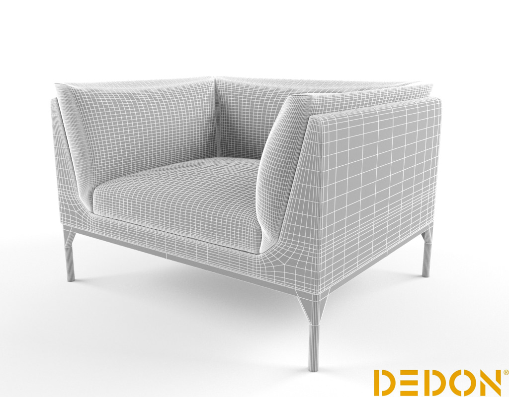 Dedon mu lounge chair 3d model max - Dedon outdoor furniture prices ...