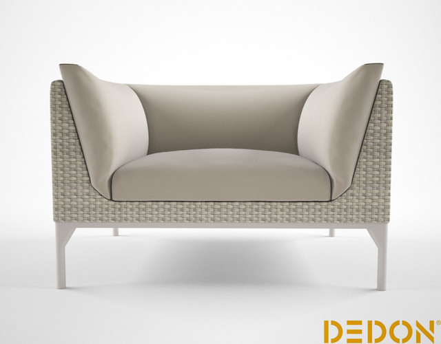 dedon mu lounge chair 3d model max