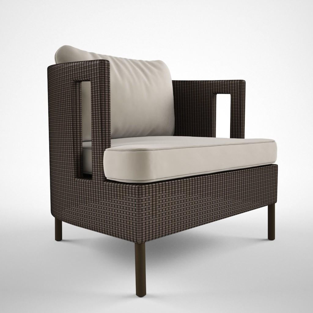 Mc Guire Furniture Cab lounge chair 3D Model x