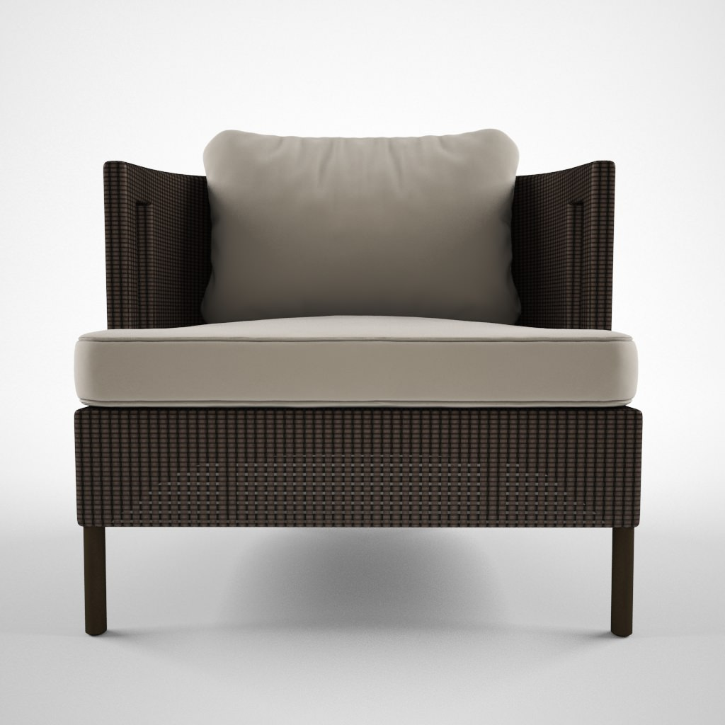 Mc Guire Furniture Cab lounge chair 3D Model MAX