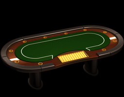 3D model Poker casino table
