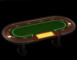 3d model poker media table