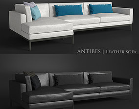Antibes leather corner sofa 3D