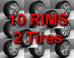 Rims and Tires 3D Model