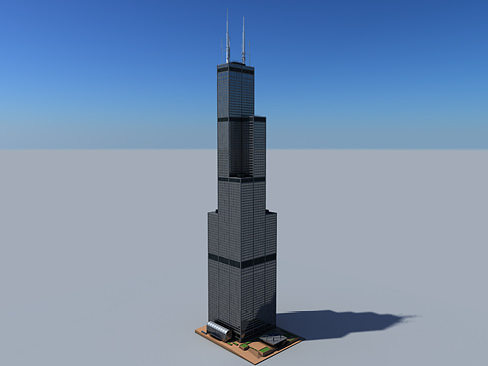 3d Sears Tower Cgtrader