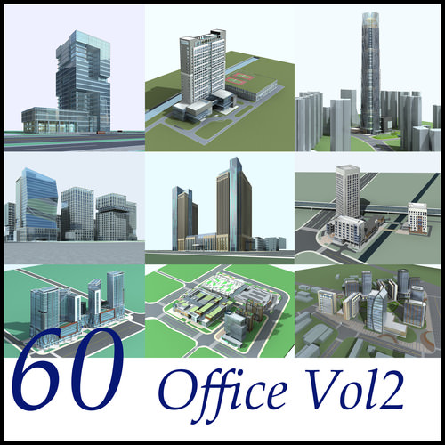 60 Office Buildings Collection3D model