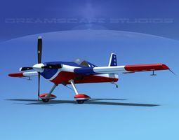 animated 3d model extra flugzeugbau ea300s  v04