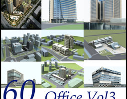 3D model Office Building Collection 60 items