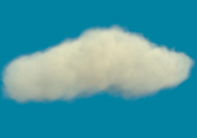 a rather realistic cloud d 3d model max obj blend jas mtl 1