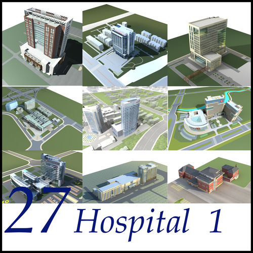 Hospital Building collection 273D model