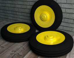 Tractor Tire 3D Model