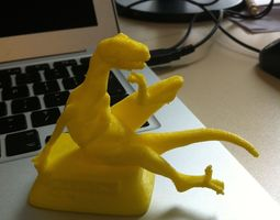 Philosoraptor 3D print model