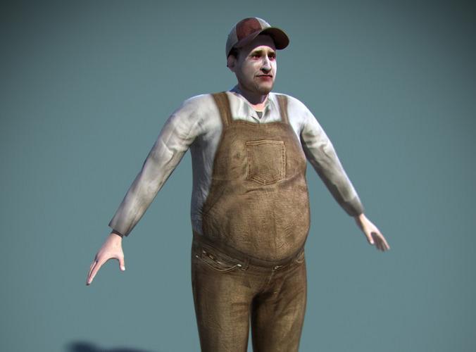 Farmer Edgar Rigged3D model