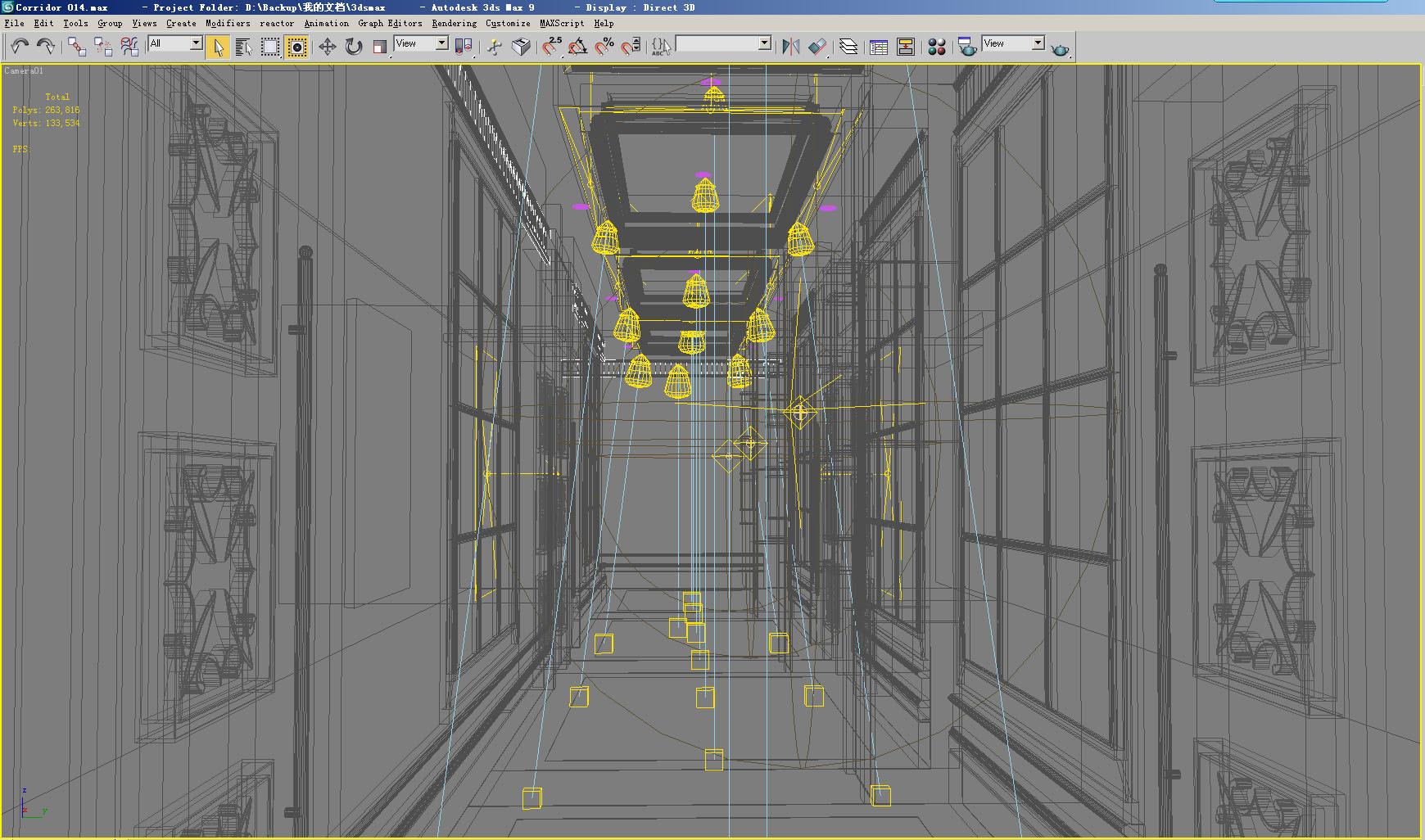 Corridor 014 3d model max - Schilderij model corridor ...