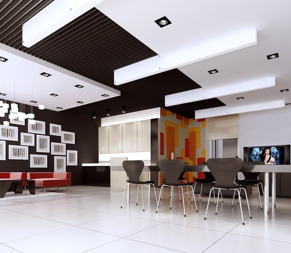 Store with Dining Space and TV3D model