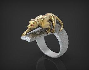 Ring Wild Cat STL 3D printable model