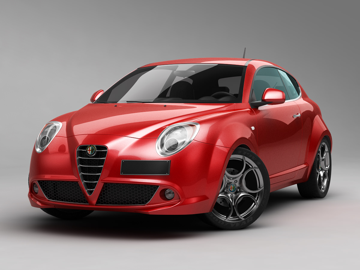 alfa romeo mito 2013 3d model max obj 3ds fbx. Black Bedroom Furniture Sets. Home Design Ideas
